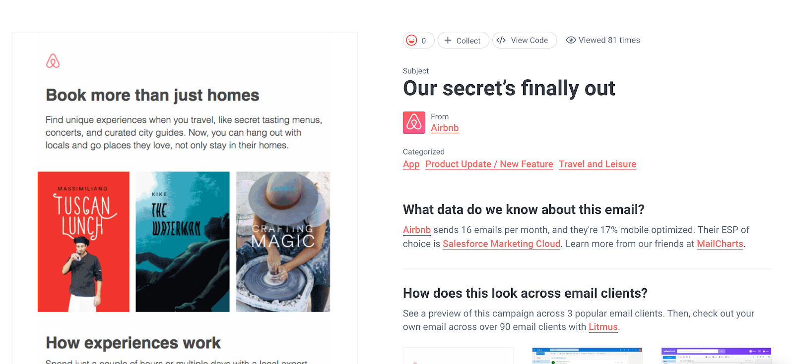 airbnb email example of simplicity