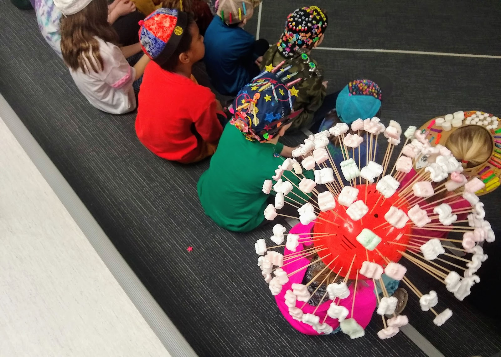 100th day kids with their hats