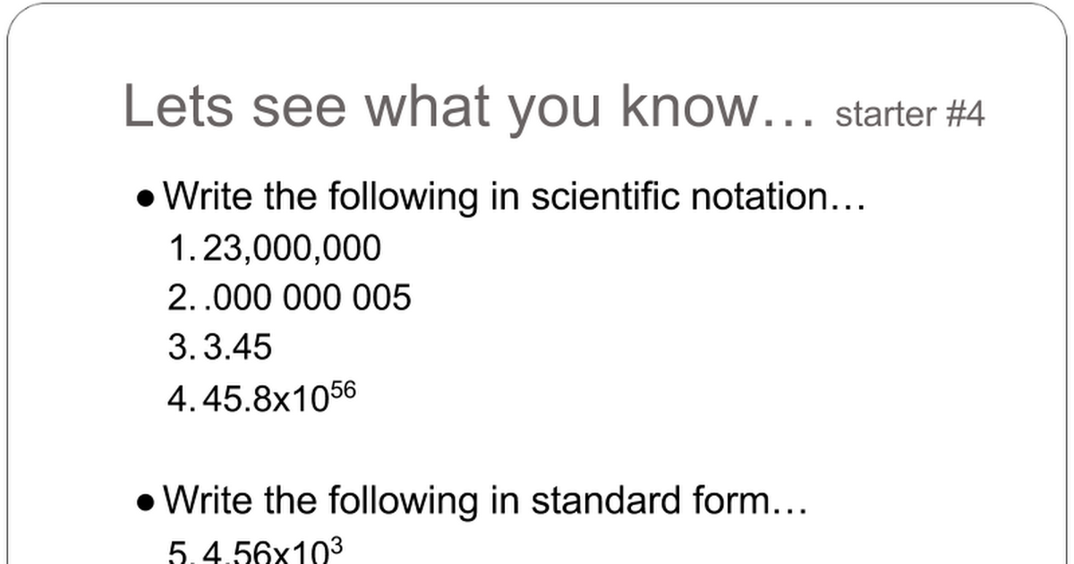 Scientific Notation And Sig Figs Google Slides