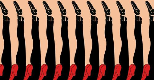optical illusion of legs