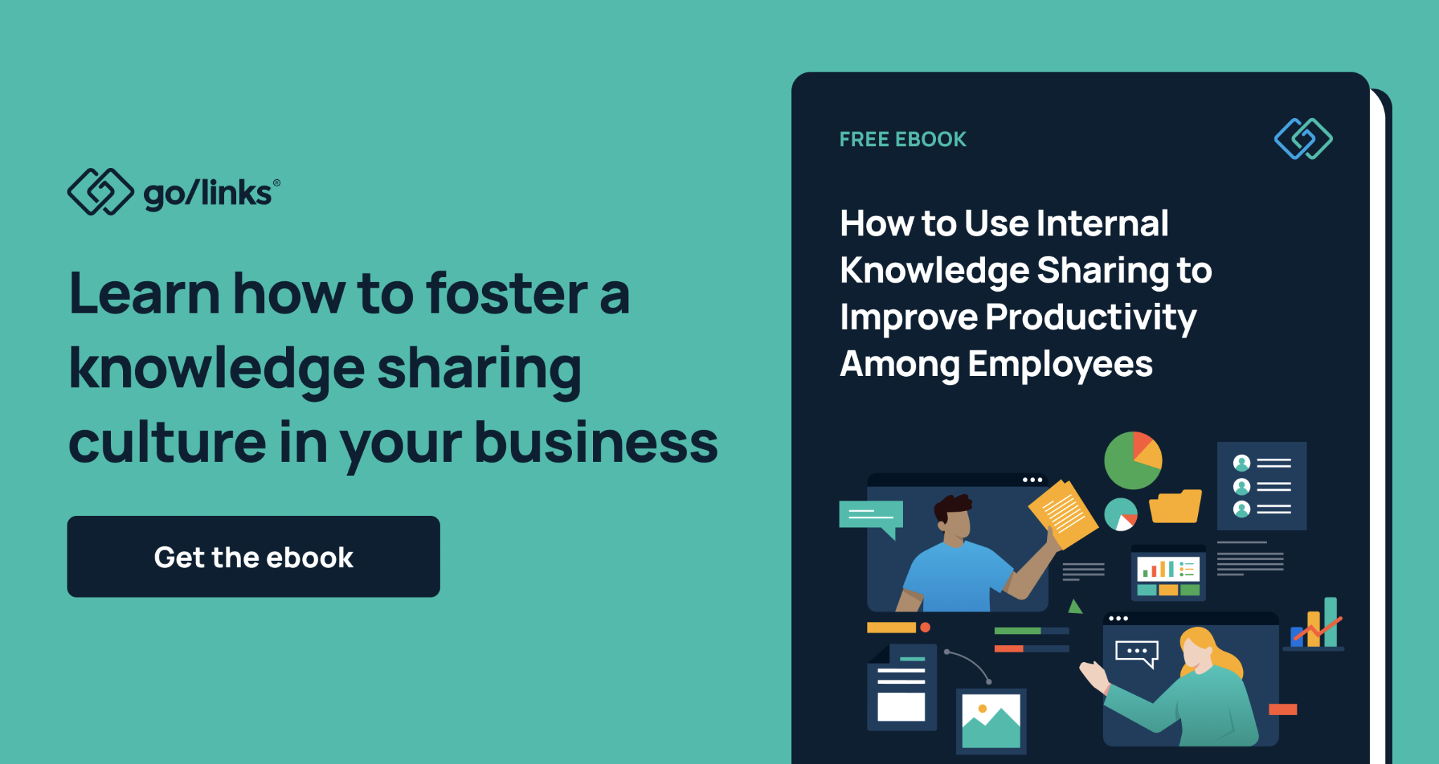 How to use internal knowledge sharing to improve productivity among employees ebook call to action