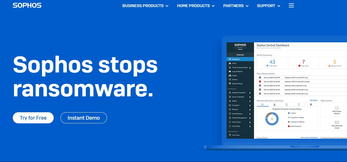 Sophos Cybersecurity Company