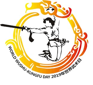 "At the International Wushu Academy in Bergamo, Italy, we make a bridge between China and the East. The dragon chasing its own tail symbolizes the long history of ancient Chinese martial arts, and colors of the logo, yellow and red, call to mind the colors of both the Chinese flag and Bergamo's flag. The girl with the ""Wu"" on her chest should inspire more girls in the world to train wushu."