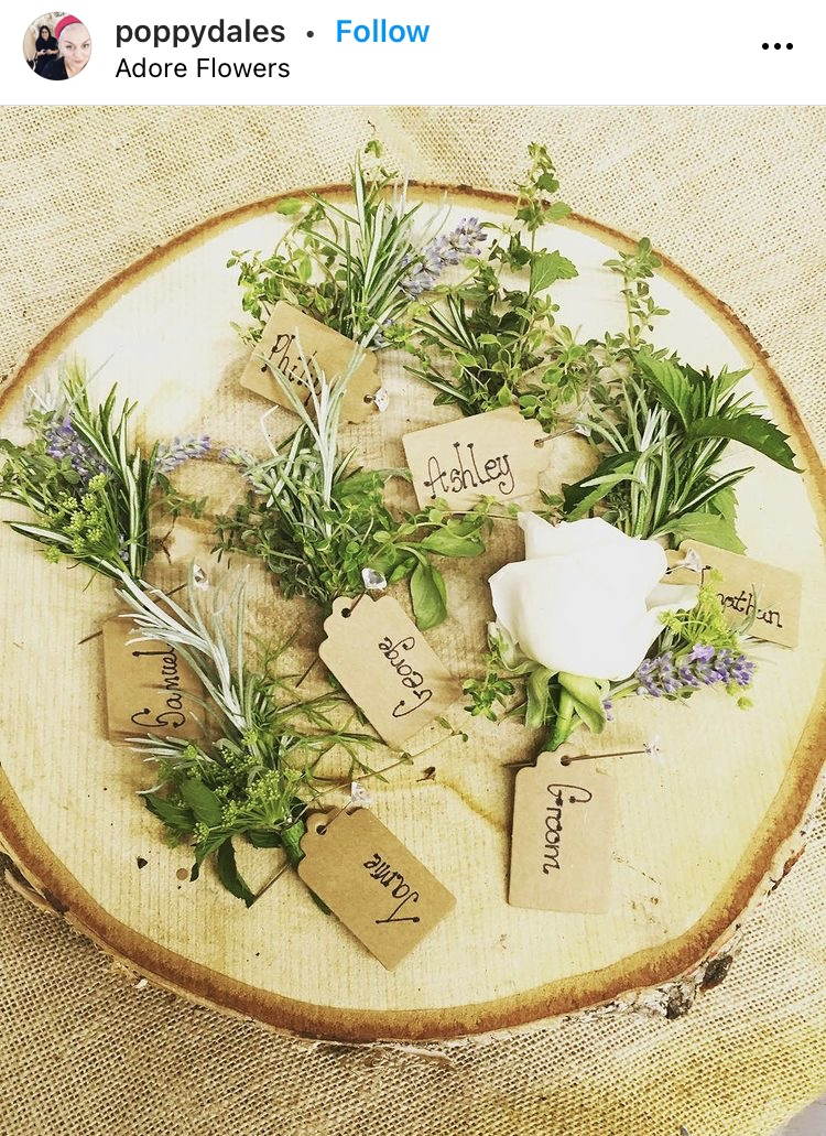 nature themed wedding favor