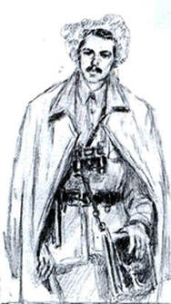 Кость Пестушко (малюнок Сергiя Адамовича)