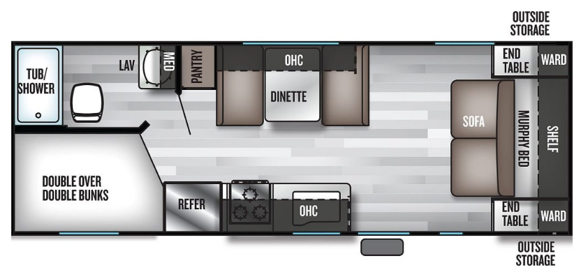 Floorplan of Forest River RV at O'Connor