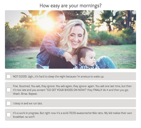 how are mornings question