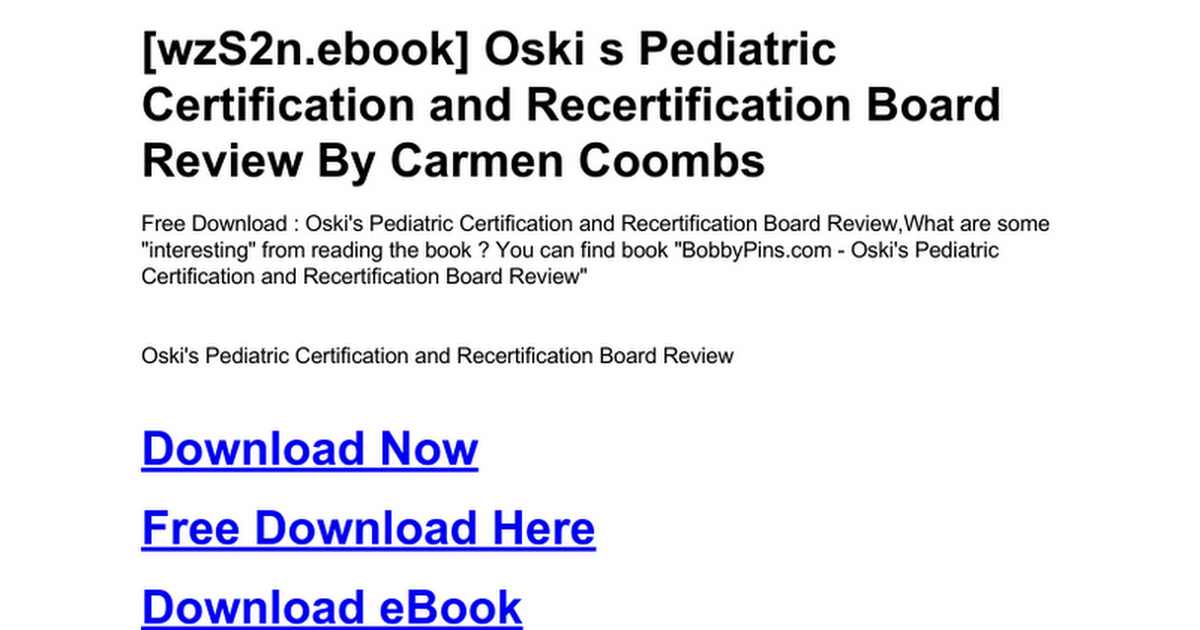 oski-s-pediatric-certification-and-recertification-board-review.doc ...