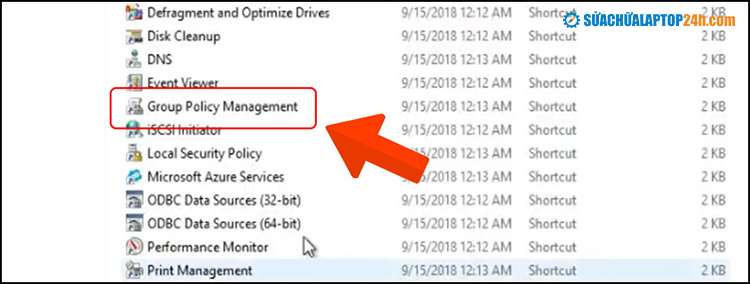 Click Group Policy Management