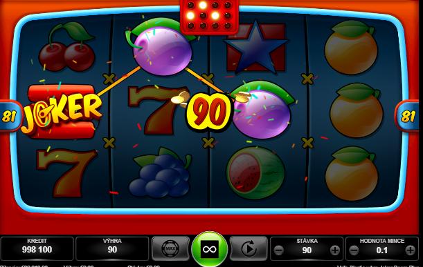Joker Boom Plus výhry