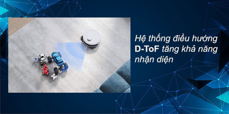 Robot hút bụi lau nhà Ecovacs Deebot N8 Pro | Hệ thống điều hướng