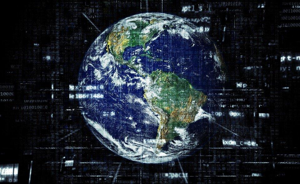 La Tierra, Internet, Globalización, Tecnología, Red