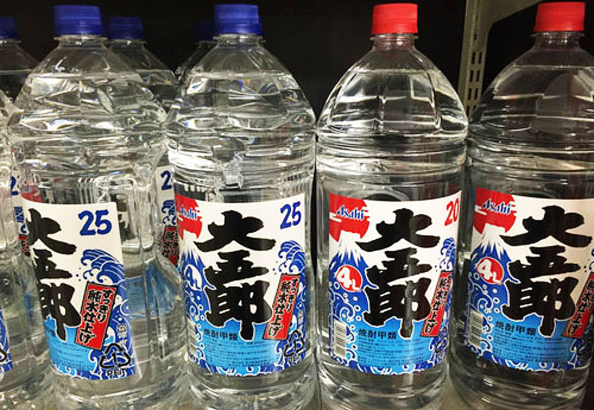 shochu alochol you can find in convenience stores in Japan