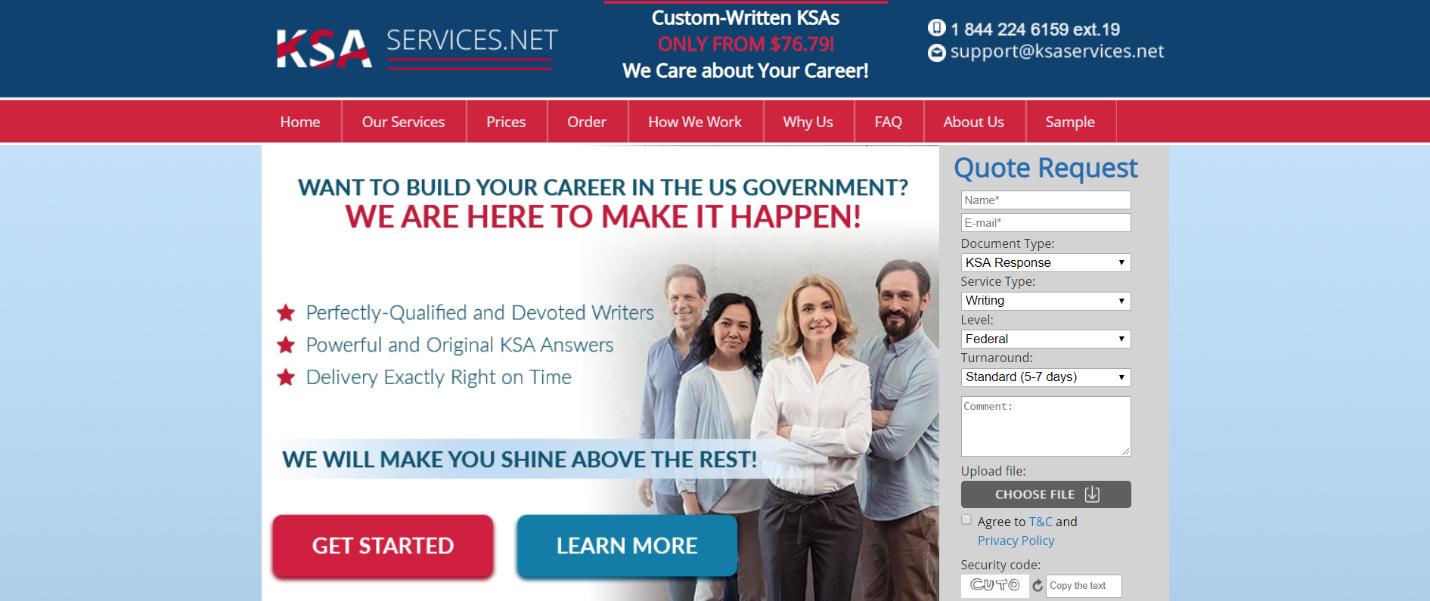 Federal Resume and KSA Writing Service