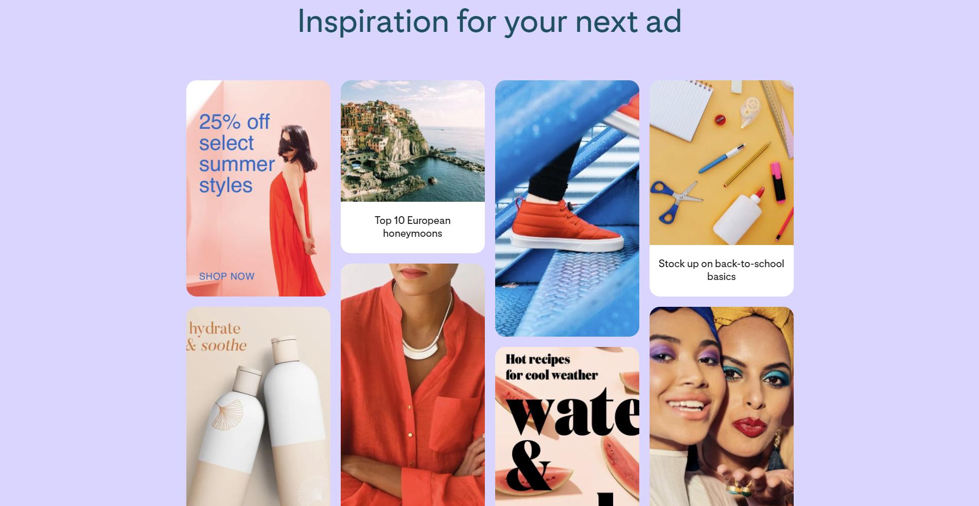 Pinterest ad inspiration