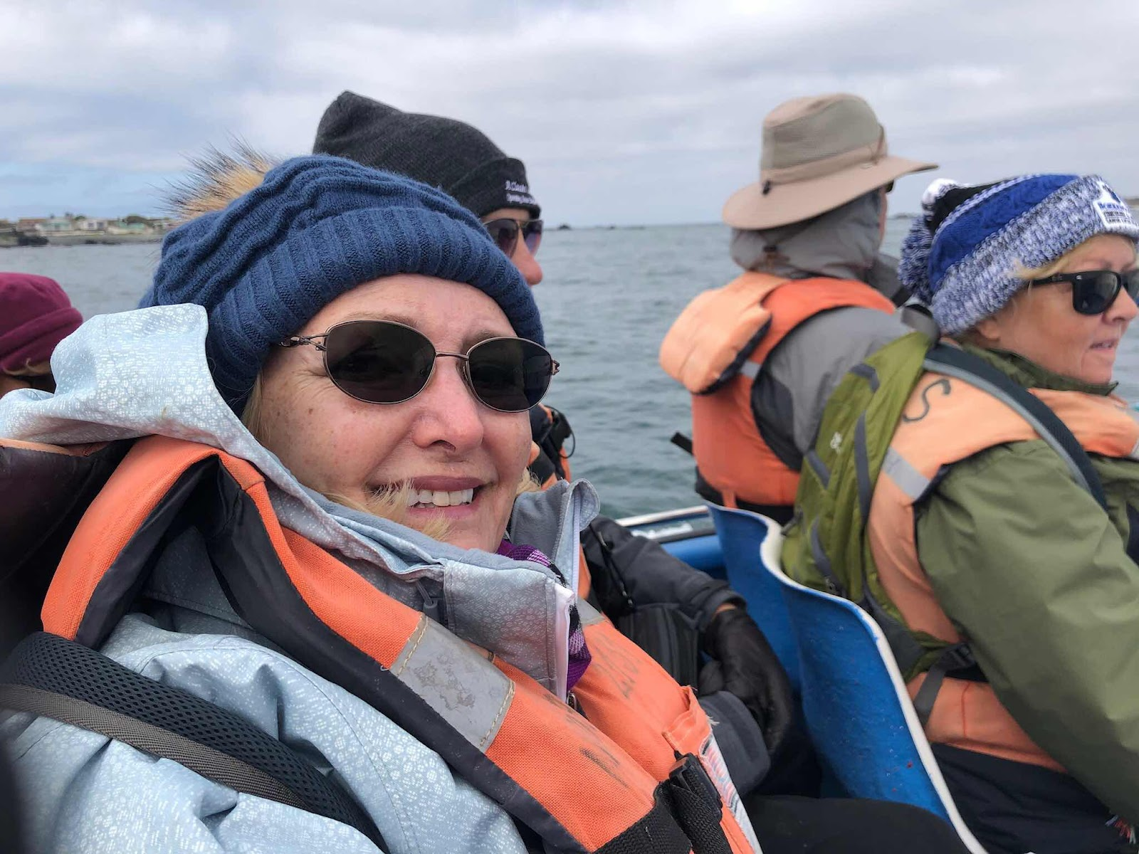 Resident Astronomer Peggy enjoying the boat ride to Isla Damas (Source: Palmia Observatory)