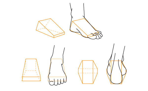 Alternative method to draw the foot