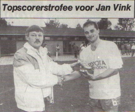 Jan Vink, tot 2007 topscoorderder aller tijden met 110 doelpunten