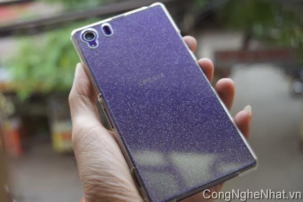 Ốp lưng và DMH Sony Xperia Z1 (SO-01F) ánh kim tuyến