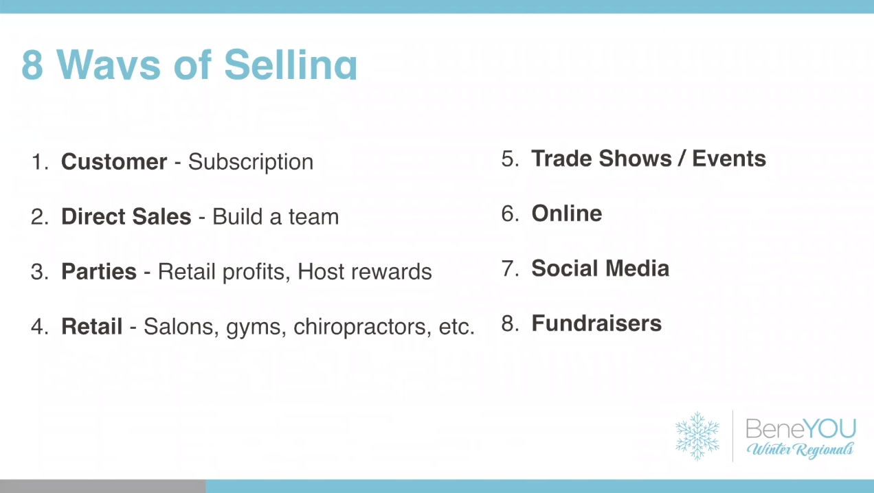 BeneYou MLM Review - 8 ways of selling