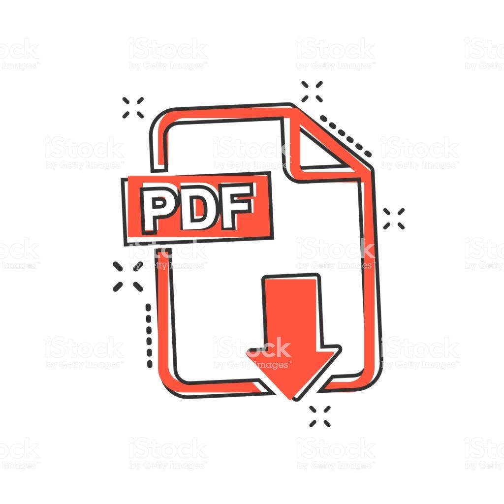 Ilustración de Dibujos Animados De Vectores Pdf Descarga Icono En ...