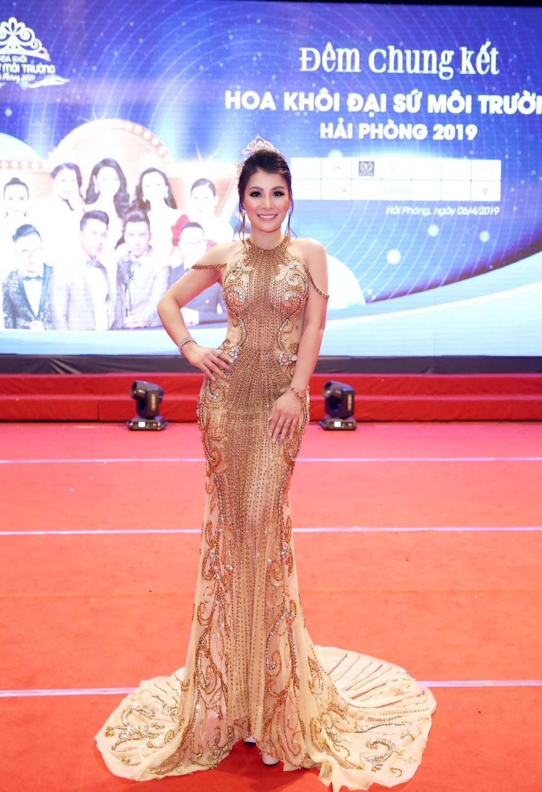 Hoa hậu doanh nhân Đàm Hương Thủy nổi bật khi ngồi ghế giám khảo Hoa khôi Đại sứ môi trường Hải Phòng năm 2019  - Ảnh 5