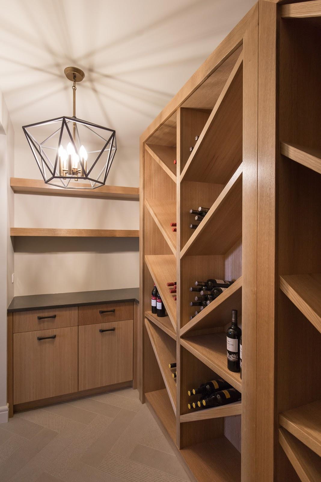 custom built wooden wine cellar in calgary, creative design