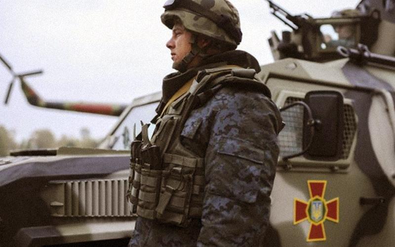 The training center of the National Guard of Ukraine in Novi Petrivtsi, Kyiv oblast.