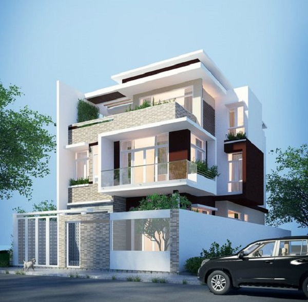 Nhà 3 tầng hiện đại thiết kế đơn giản, sang trọng và đẳng cấp