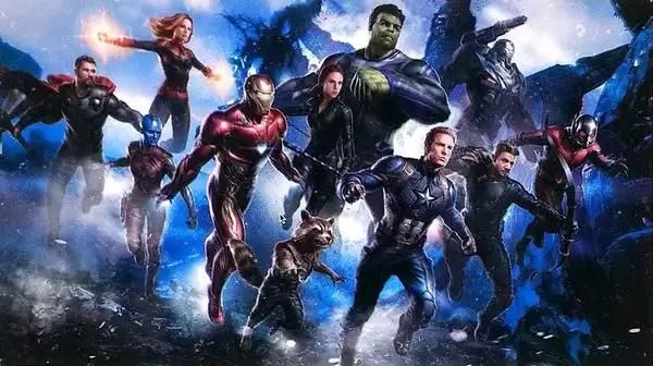 Ilustração dos Vingadores.