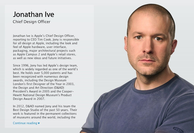 Jony Ive Chief Design Officer