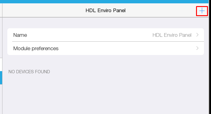 HDL Enviro Panel module setup in i3 lite  / EN (International