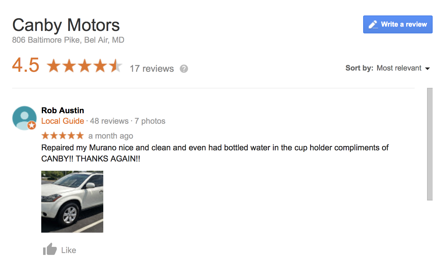 Canby Motors review - 3