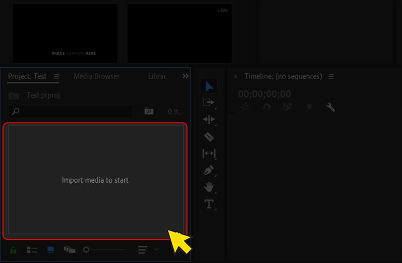 Hướng dẫn cách chèn video Adobe Premiere