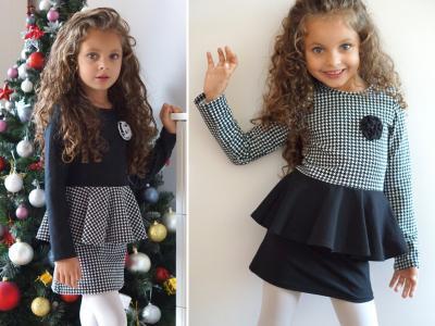 Sukienka z baskinką dla dziewczynki