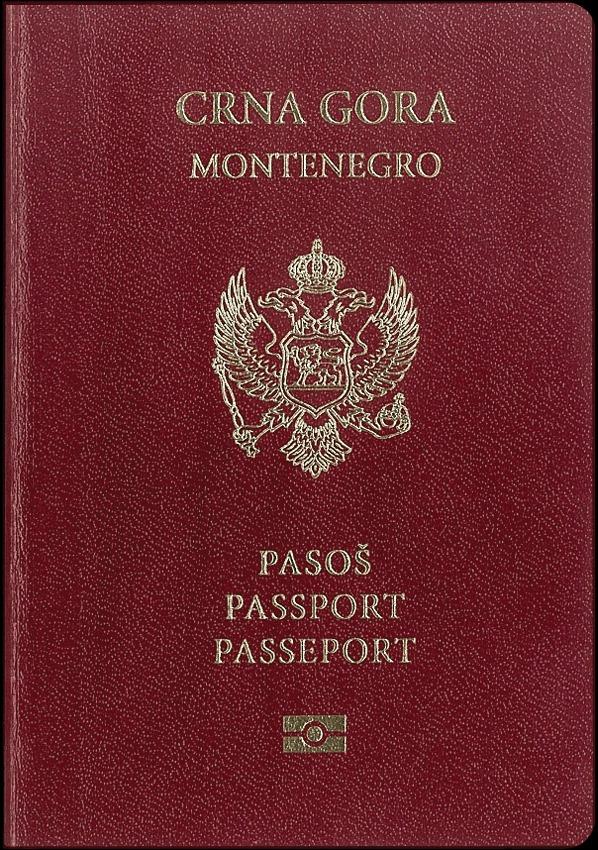 Montenegro passport