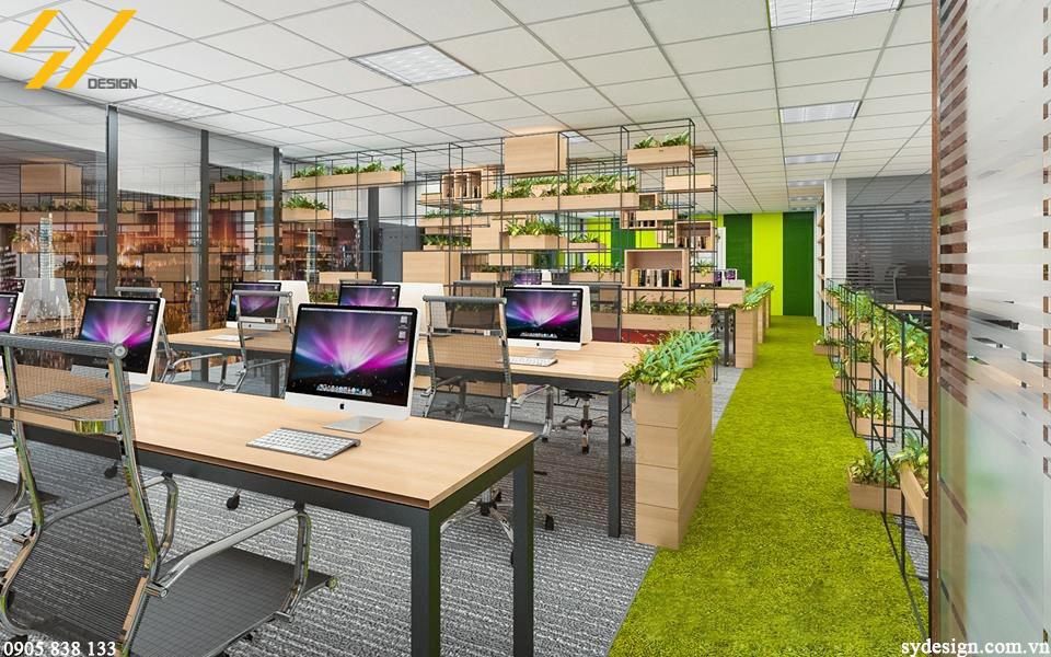 Không gian làm việc do SY DESIGN thiết kế cho công ty tại HCM