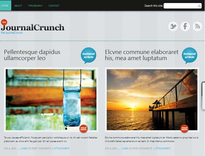 Preview of JournalCrunch Theme