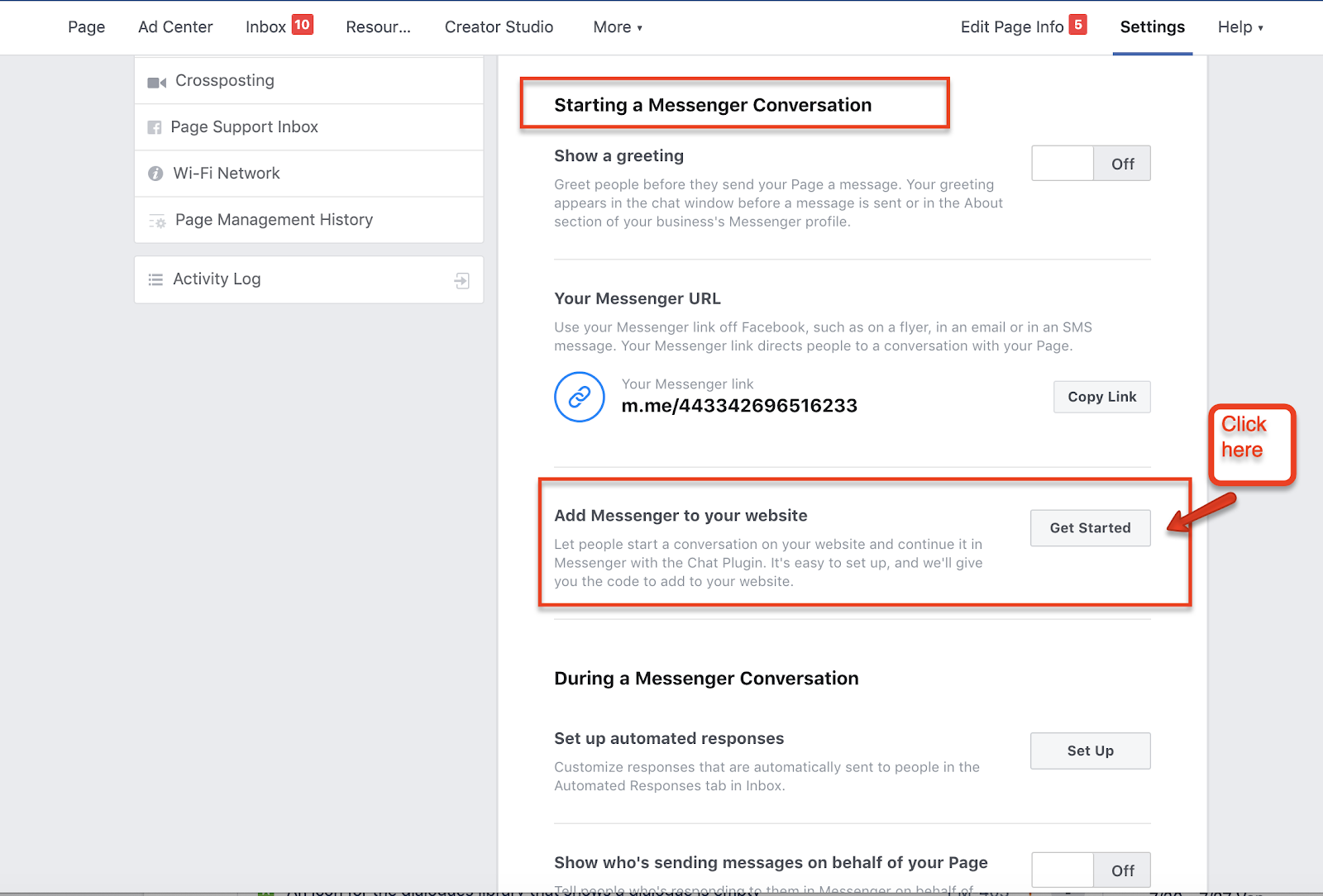 adding Messenger to your website