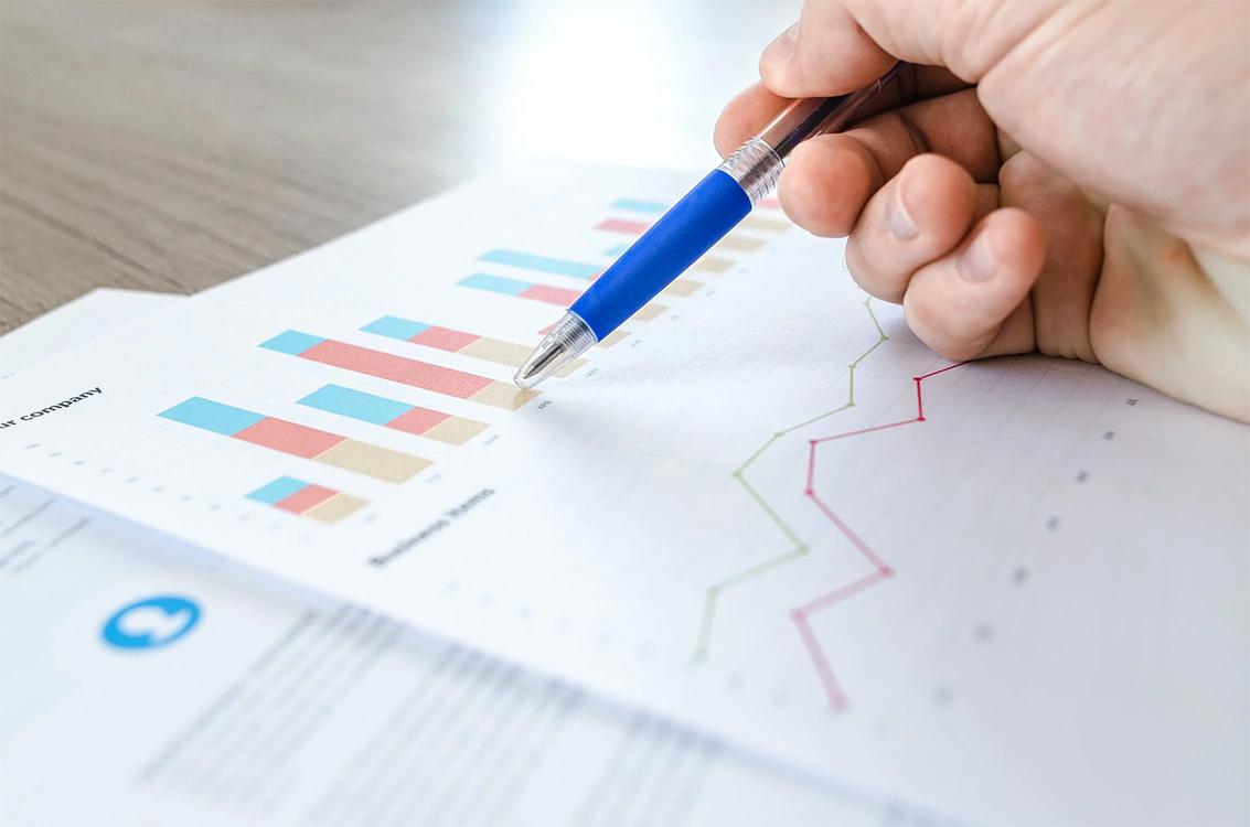 Man reviewing retail data analytics report