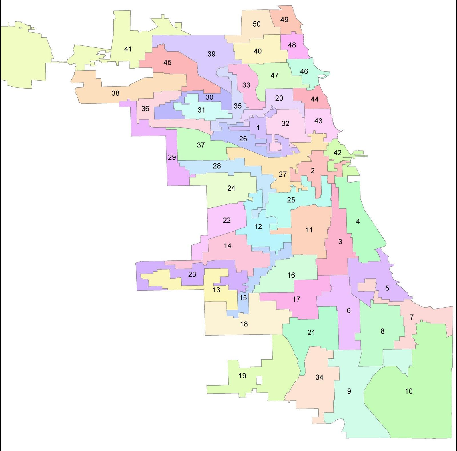 Image result for chicago ward map
