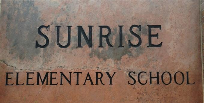 sunrise school sign
