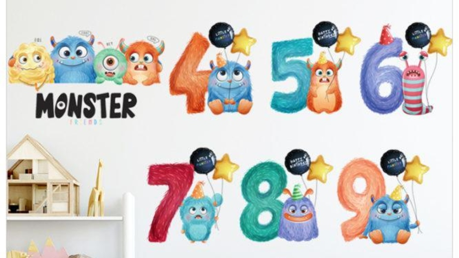 educational wall decals numbers