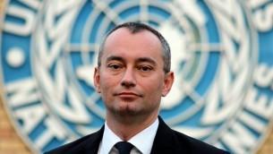 N Special Coordinator Nikolay Mladenov, February 9, 2015 (CC BY-SA Ottokars, Wikipedia)