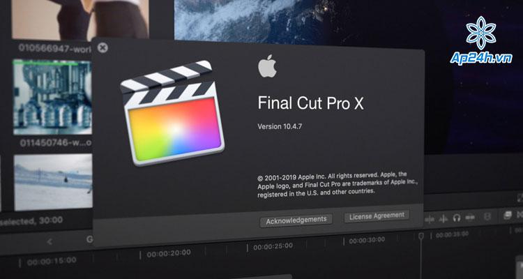 "Apple loại bỏ ""X"" khỏi Final Cut Pro"