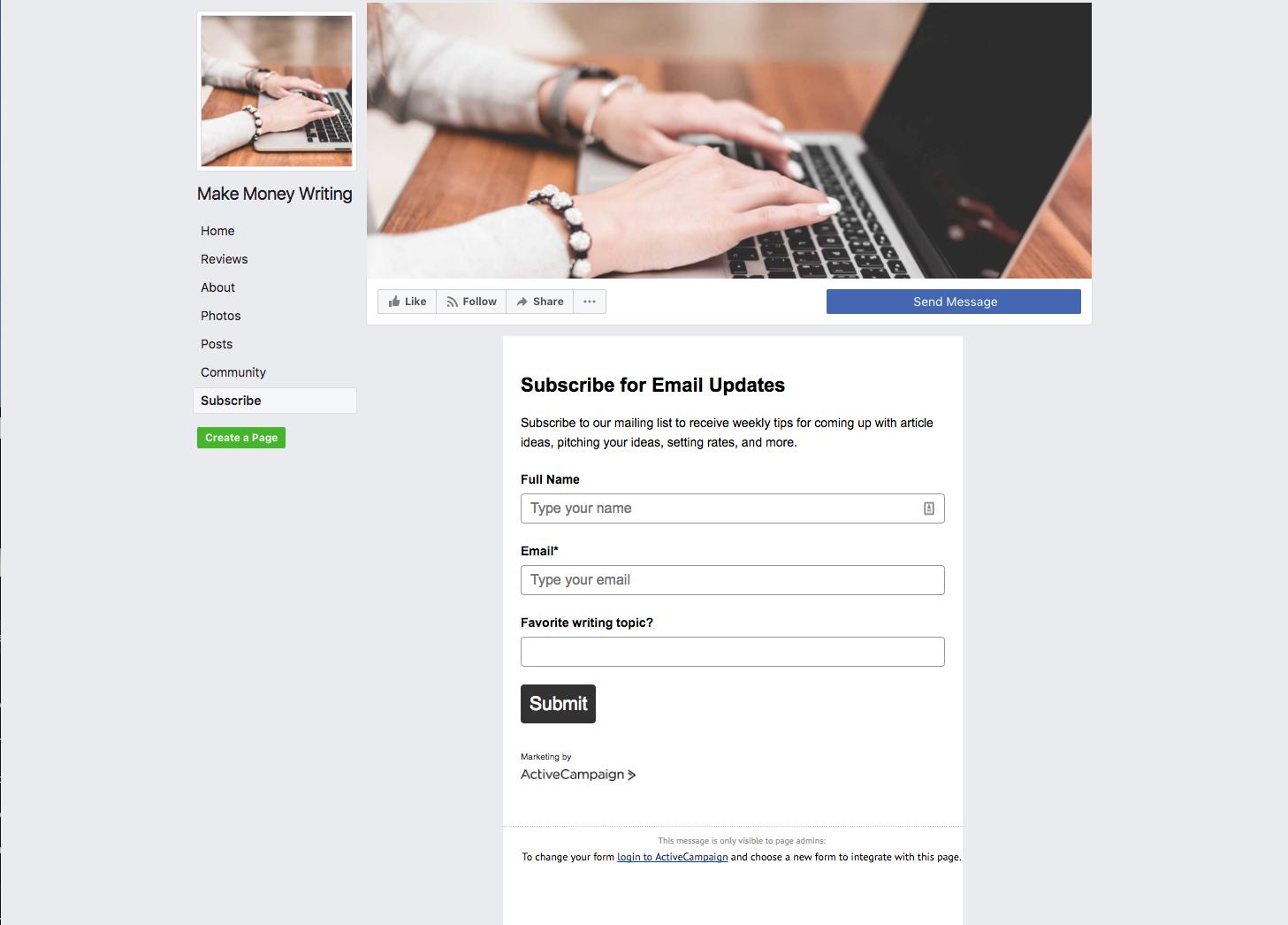 интеграция с фейсбук