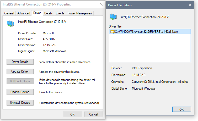 Windows Network Adapter Drivers