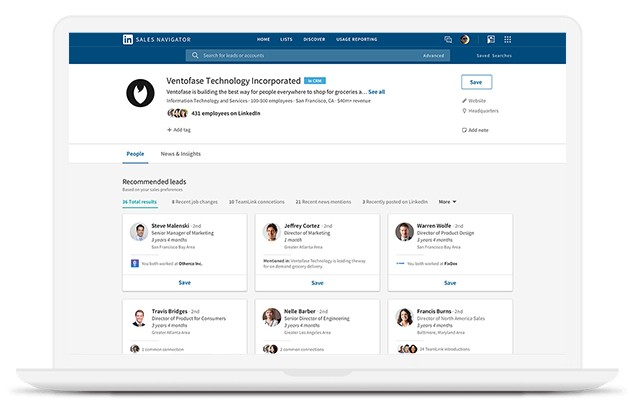 Sales Navigator gives you greater access to LinkedIn InMail