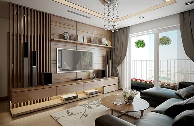 Phong cách thiết kế nội thất phòng khách hiện đại