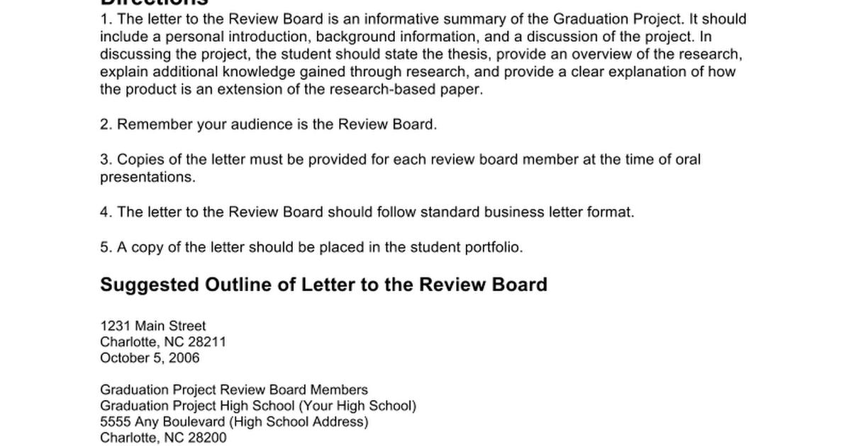 Review board letter template google docs spiritdancerdesigns Gallery